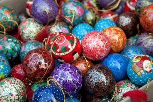 colorful, Christmas, Christmas ornaments
