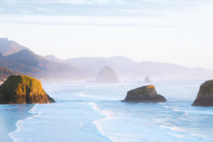 Ecola State Park, Oregon, Pacific Ocean, Beach, Sea, Rocks, Mountains, Nature, Landscape