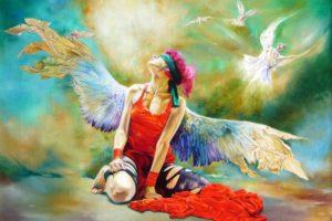 angels, Wings, Fantasy, Angel, Mood, Wings, Painting, Emo, Gothic
