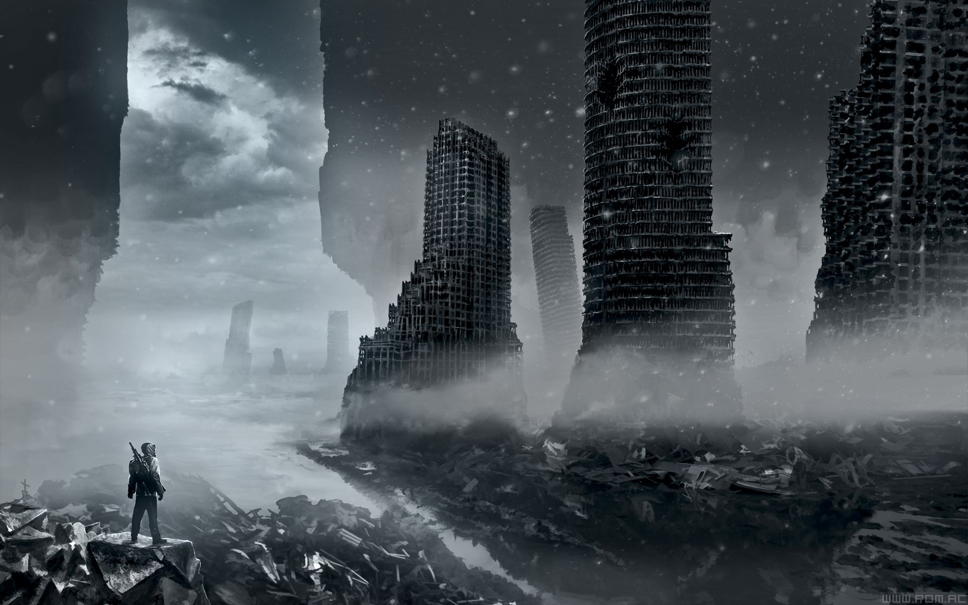 paintings, Digital, Art, Science, Fiction, Civilization, Airbrushed, Apocalyptic, Romantically, Apocalyptic, Vitaly, S, Alexius Wallpaper