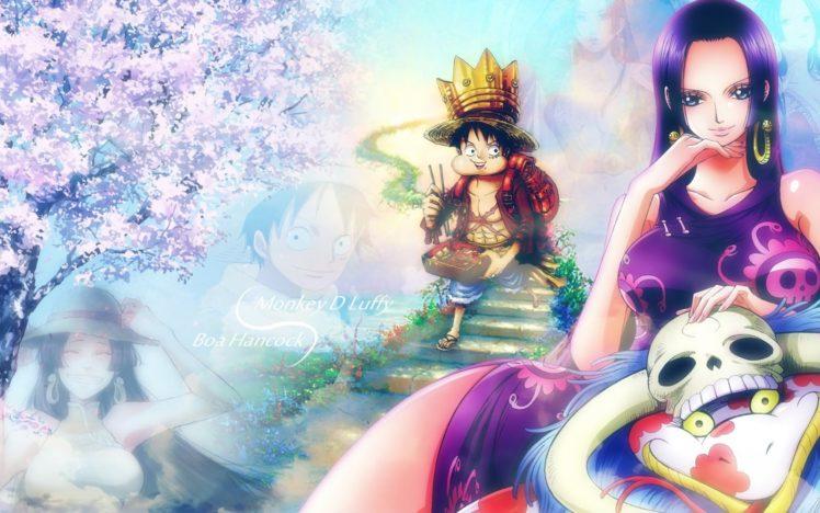 One Piece, Boa Hancock, Monkey D. Luffy HD Wallpaper Desktop Background