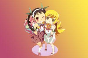 Monogatari Series, Hachikuji Mayoi, Oshino Shinobu, Donut