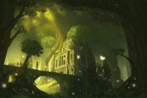 forest, Trees, Fantasy art