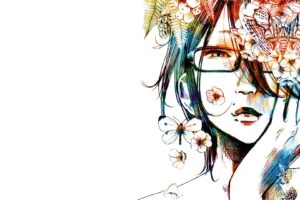 anime girls, Manga, Oyasumi Punpun, Colorful, Glasses, Artwork