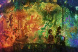 anime girls, Colorful, Fantasy art