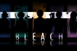 anime, Bleach, Silhouette, Paint splatter