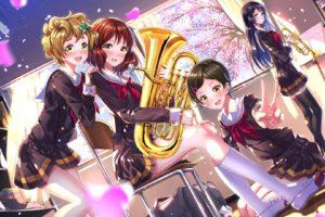 anime, Oumae Kumiko, Kawashima Sappire, Swordsouls, Anime girls, Hibike! Euphonium, Katou Hazuki, Kousaka Reina