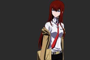 vectors, Steinsgate, Makise, Kurisu, Simple, Background, Anime, Girls