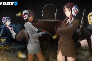 anime girls, Anime, Payday 2