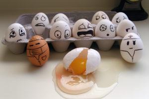 egg, Carton, Emotions, Fear, Yolk, Situation, Mood, Humor, Funny, Sadic, Face