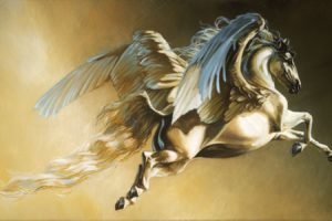 freedom, Art, Horse, White, Beautiful, Animal, Wings, Pegasus, Fantasy, Fly