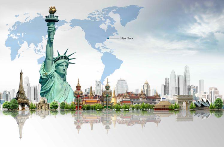 art, Artwork, Artistic, City, Cities, Fantasy, Architecture, Building, Original HD Wallpaper Desktop Background