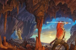illustrations, To, Books, Warriors, Painting, Art, Cave, Fantasy