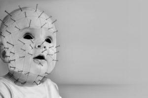 pinhead, Jr, , Movies, Dark, Horror, Gothic, Macabre, Mask, Face, Babies, Children, Demon