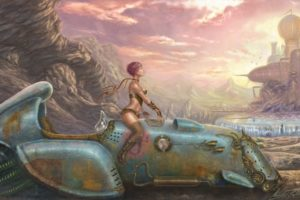 boots, Women, Futuristic, Dreams, Rust, Artwork, Vehicles, Sci, Fi, Science, Sexy, Babes, Cities