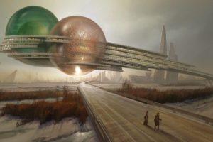 fantasia, Abstracto, Planeta, Alienigena