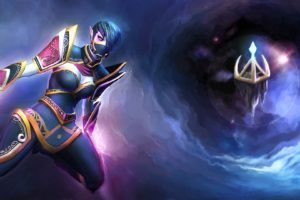 dota, 2, Templar, Assassin, Lanaya, Warrior, Magic, Games, Fantasy, Artwork