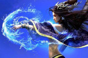 water, Goddess, Fantasy,  , Witch, Black, Hair, Girl