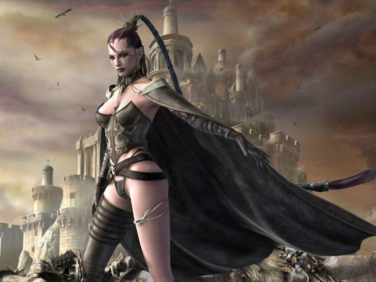 last, Chaos, Fantasy, Mmo, Rpg, Action, Fighting, 1lchaos, Action, Warrior, Dungeon, Adventure, Online, Babe, Girl, Girls, Castle, Dark, Gothic HD Wallpaper Desktop Background
