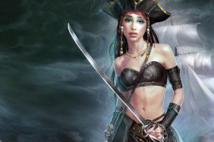 fantasy, Art, Artwork, Artistic, Original, Pirate, Pirates