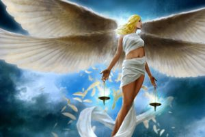 angels, Fantasy, Girls, Girl, Blonde, Angel, Feathers, Feather