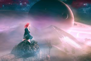 space, 3d, Art, Planet, Stars, Mood, Fantasy