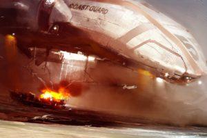 spaceships, Digital, Art, Vehicles