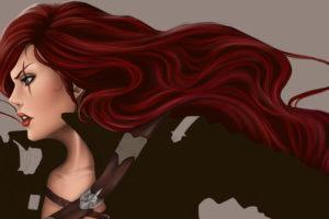 league, Of, Legends, Katarina, Redhead, Girl, Hair, Games, Girls