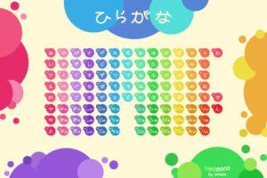 japanese, Circles, Tables, Typography, Rainbows, Hiragana