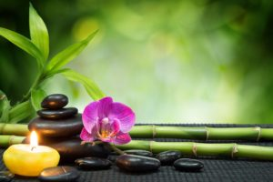 heart, Stones, Candles, Orchids, Towels, Bamboo, Bokeh, Mood, R
