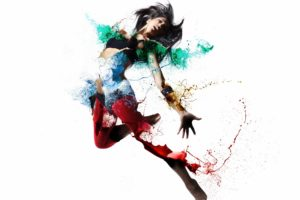 girl, Shape, Color, Style, Psychedelic, Dance