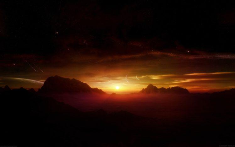 the, Latest, Sunset HD Wallpaper Desktop Background