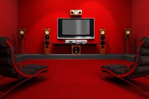 red, Room, With, Home, Cinema