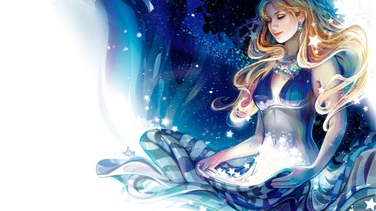 stars, Women, Females, Girls, Blondes, Fantasy HD Wallpaper Desktop Background