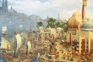 anno, 1404, City, Building, Ship, Boat, Sea, Fantasy
