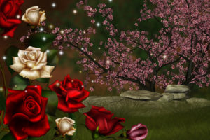 nature, Roses, 3d, Art
