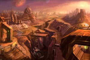 video, Games, Ruins, Starcraft, Planets, Pc, Blizzard, Entertainment, Artwork