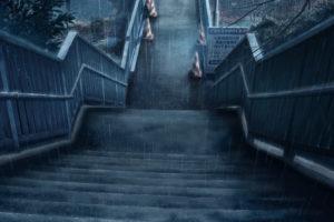 rain, Stairways