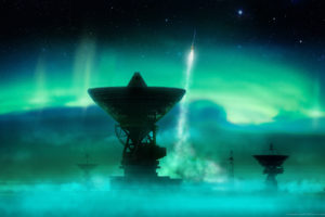 outer, Space, Rockets, Aurora