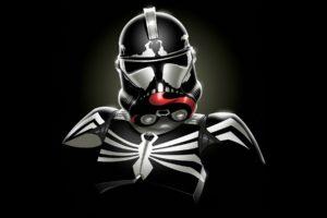 star, Wars, Minimalistic, Stormtroopers, Venom, Spider man, Marvel, Comics