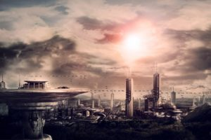 cityscapes, Futuristic, Science, Fiction, Artwork, Modern