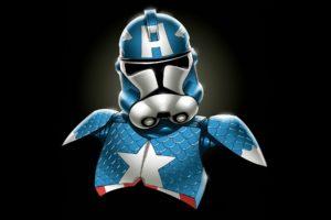 star, Wars, Minimalistic, Stormtroopers, Captain, America, Marvel, Comics, Redneck