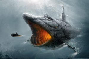 submarine, Fish, Fantasy, Art, Artwork