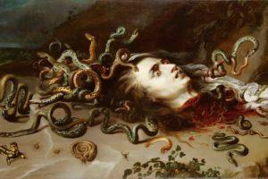 medusa, Serpent, Snake, Blood, Fantasy, Dark, Horror