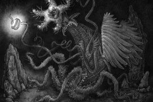 psychedelic, Fantasy, Dark, Horror, Sci fi, Monster, Creature