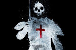 skulls, Cross, Knights, Artwork, Black, Background, Alex, Cherry