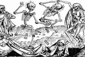nuremberg, Dance, Death, Dark, Horror, Skeleton, Skulls