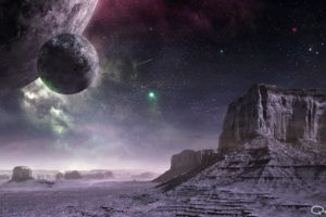 outer, Space, Planets, Digital, Art, Science, Fiction