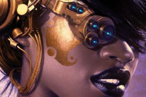 steampunk, Mechanical, Cyborg, Robots, Women, Females, Girls, Face, Lips, Eyes