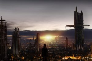 sci fi, Futuristic, City, Cities, Art, Artwork